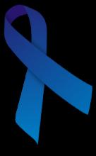 Blauw lintje - symbool voor ME/CVS