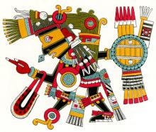 "De Azteekse god Tezcatlipoca (""Rokende Spiegel"")"