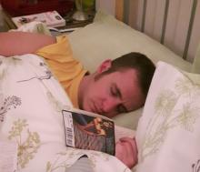 In bed met een boek...