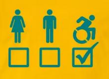 """Man - vrouw - roller (bron: <a href=""""https://shop.spreadshirt.nl/wheelchairmafia/geschikt+001?idea=5a0d9bce5fd3e43e76f863db"""" target=""""_blank"""">Wheelchair Mafia</a>)"""